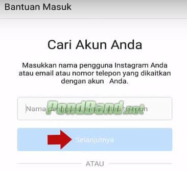 lupa password instagram tanpa email