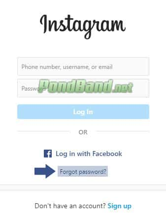 lupa password instagram lupa email
