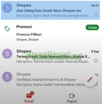 lupa password shopee pay