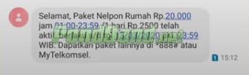 Paket Nelpon Rumah Telkomsel