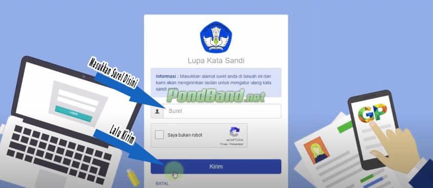 cara merubah password sim pkb