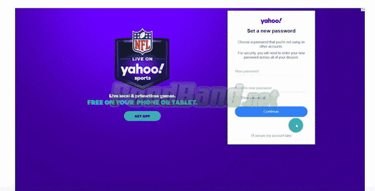 Anda bisa membuat password Yahoo baru apabila kode yang dimasukkan benar