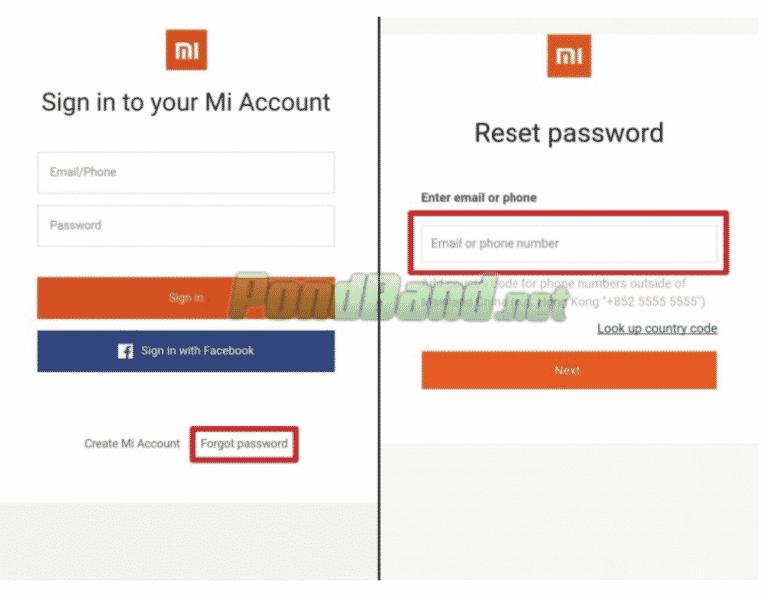 Berikutnya, Anda bisa memilih Forget Password agar bisa mengatasi lupa password di Mi Account