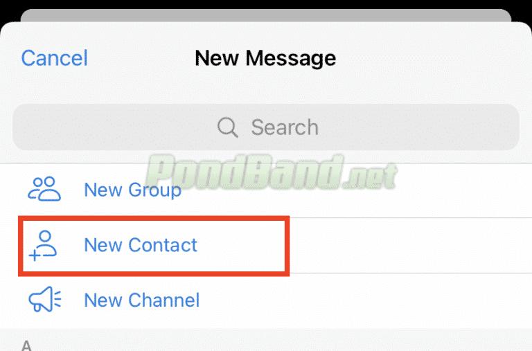 Berikutnya pilih ikon tambah yang ada di atas kanan tampilan untuk membuat ataupun menambahkan kontak yang diperlukan di aplikasi