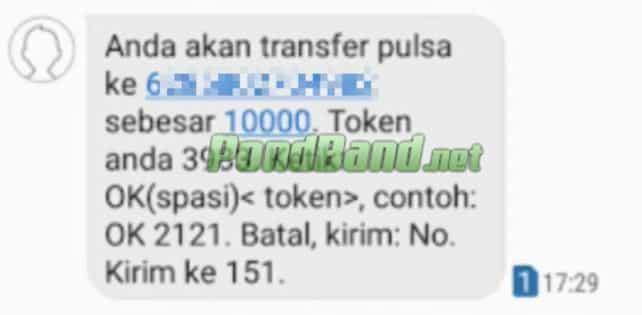 Cara selanjutnya balas SMS tersebut dengan bentuk OK spasi Nomor Token