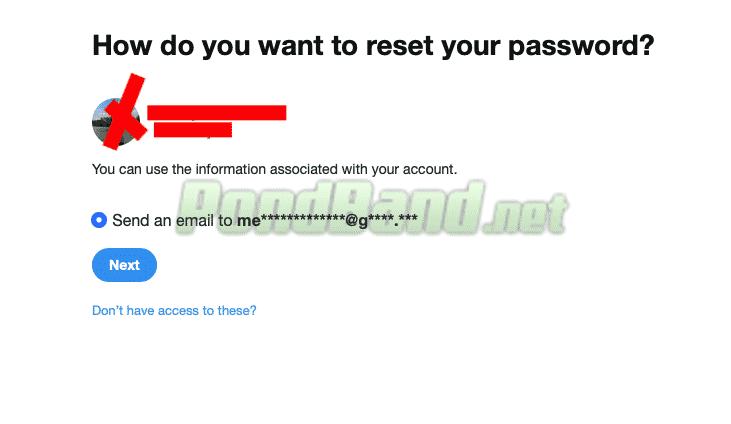 Karena tidak ingat nomor telepon, tentu saja Anda bisa memilih dengan menggunakan email aktif