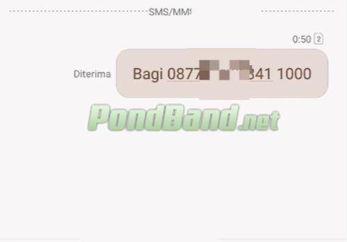 Kemudian isilah pada kolom pesan SMS dengan bentuk BAG
