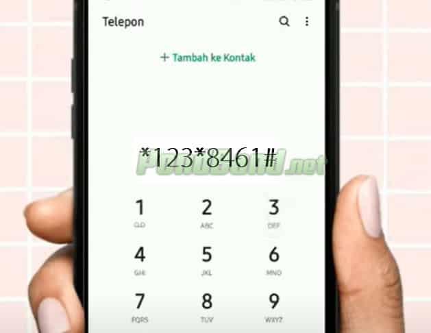 Ketik dial 123 8461 kemudian tekan panggil.