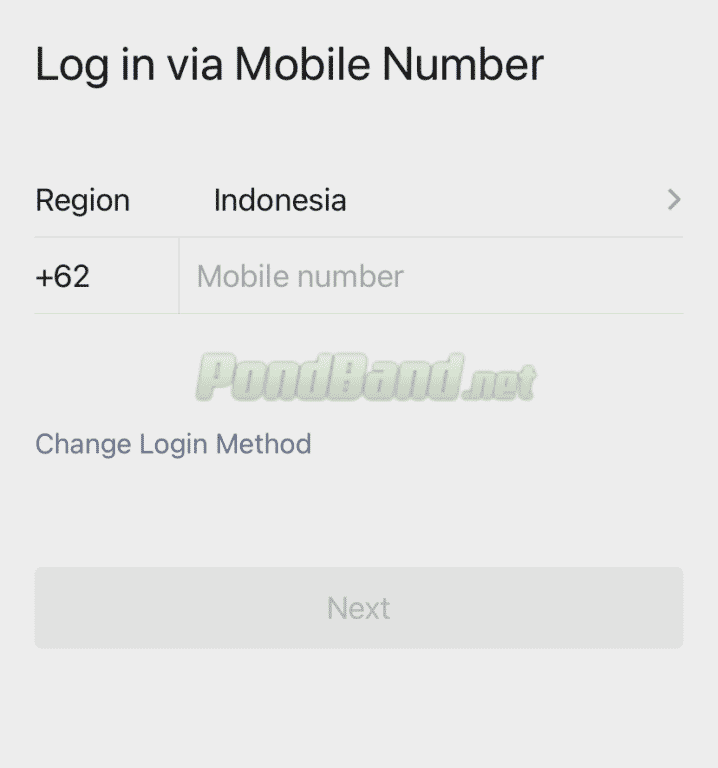 Login via sms untuk mengatasi lupa password wechat