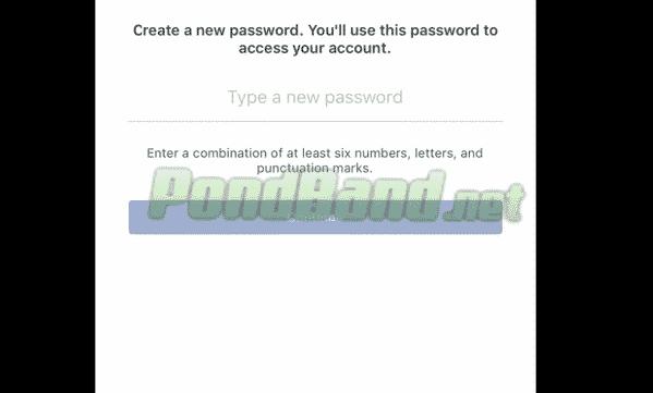 Selanjutnya masukkan password yang baru
