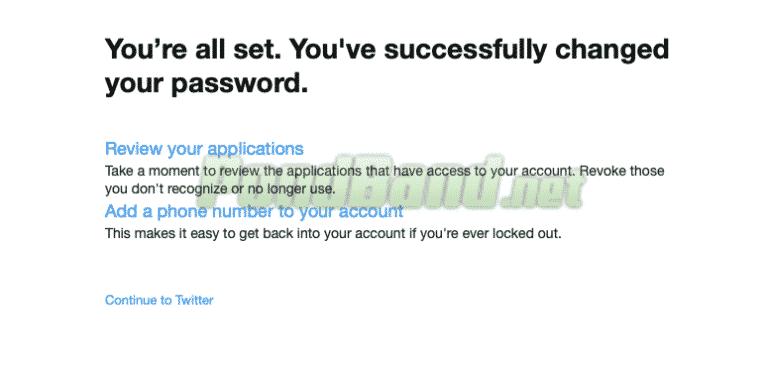 Selesai, Anda sudah bisa login ke akun Twitter dengan memakai kata sandi baru yang telah dibuat sebelumnya