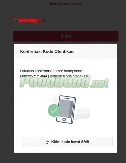Server Bukalapak akan mengirimkan kode verifikasi dan silahkan masukkan kode tersebut apabila sudah memperolehnya