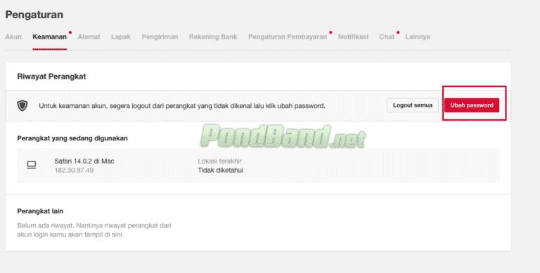Setelah masuk ke halaman login, pilihlah bagian menu pengaturan dan privasi