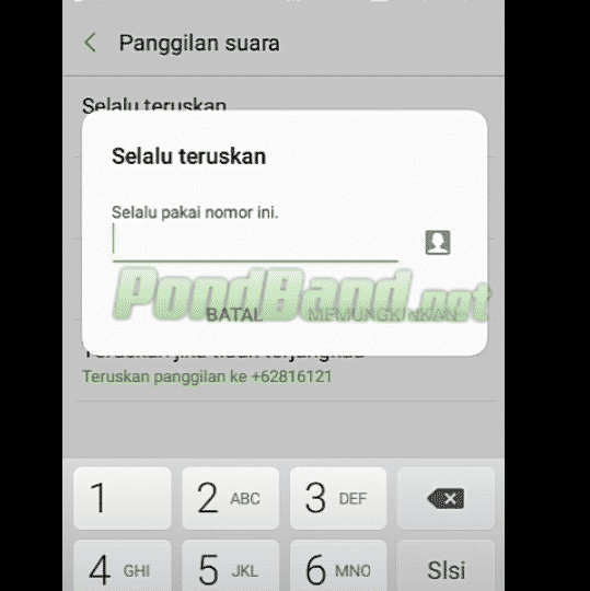Tahap selanjutnya Anda harus memasukkan nomor telepon tujuan yang akan menjadi lokasi pengalihan panggilan. Isi sesuai dengan nomor yang Anda inginkan. Bisa ke asisten pribadi Anda atau lainnya
