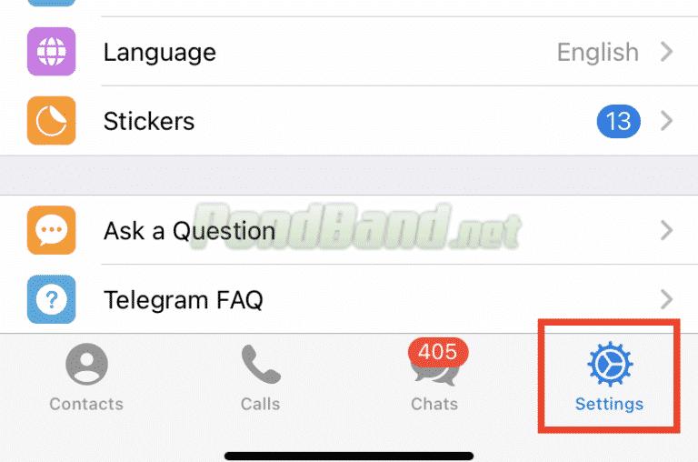 Tinggal pilih menu Settings untuk melanjutkan penghapusan akun Telegram otomatis