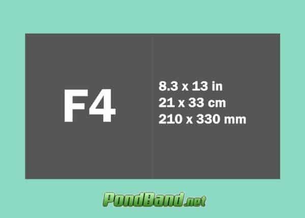 Ukuran Kertas F4 dalam Cm, Mm, Inci