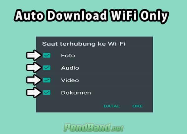 Cara Hemat Data WA dengan Auto Download Wifi Only