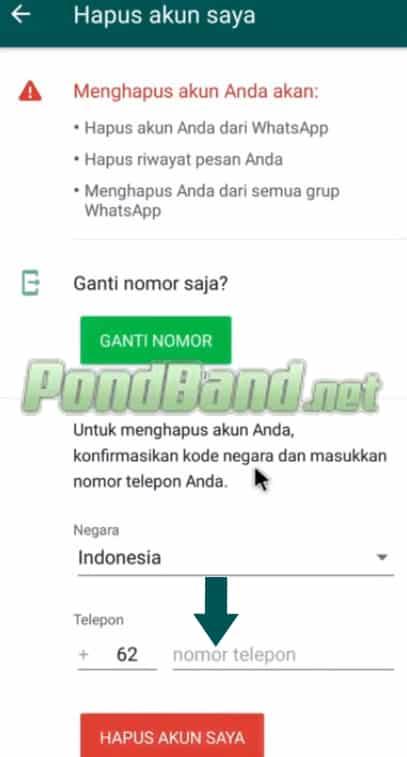 Cara Menghapus Akun WhatsApp tanpa ribet