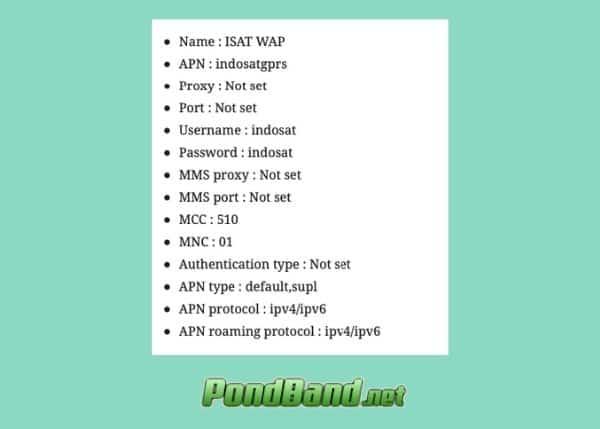 APN Indosat Default