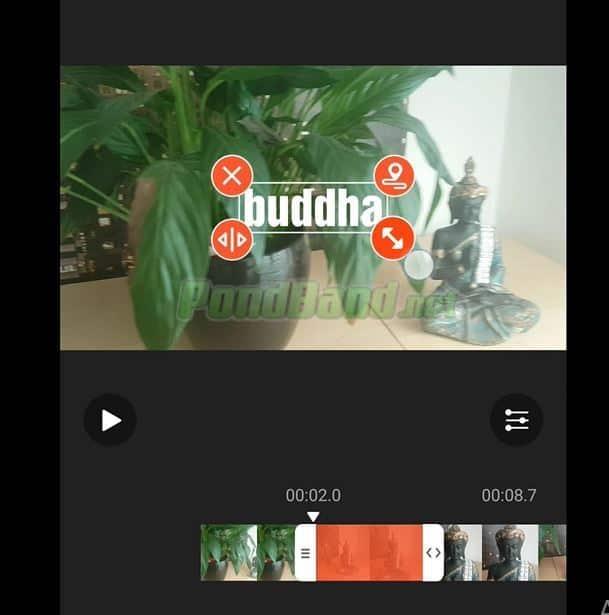 Anda dapat mengedit ukuran huruf, teks, warna, durasi teks, pada video maupun peletakan teks.