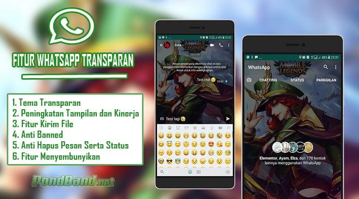 Fitur WhatsApp Transparan