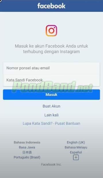 Jika tidak ingin ribet, Anda dapat masuk menggunakan aplikasi Facebook