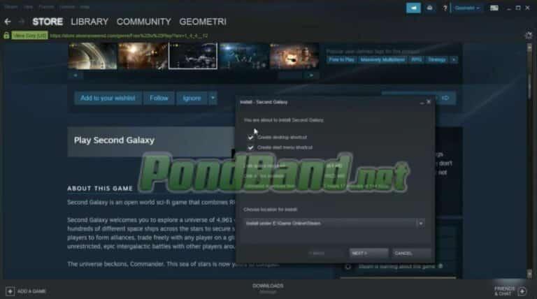 Klik game yang diinginkan, kemudian klik Play Game