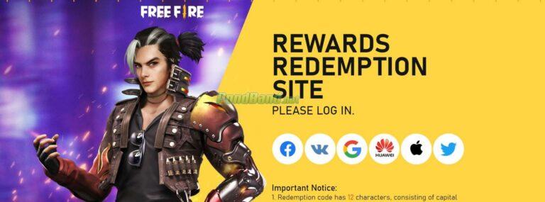 Masuk atau login terlebih dahulu ke akun Free Fire Anda.