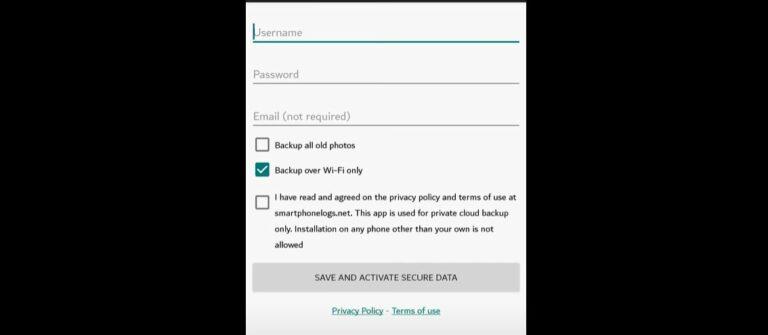 Masukan username dan password secara bebas.