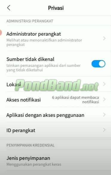 Otomatis Anda akan diarahkan menuju halaman perizinan di HP Android, disini pilih opsi instal aplikasi dari sumber tidak dikenal.