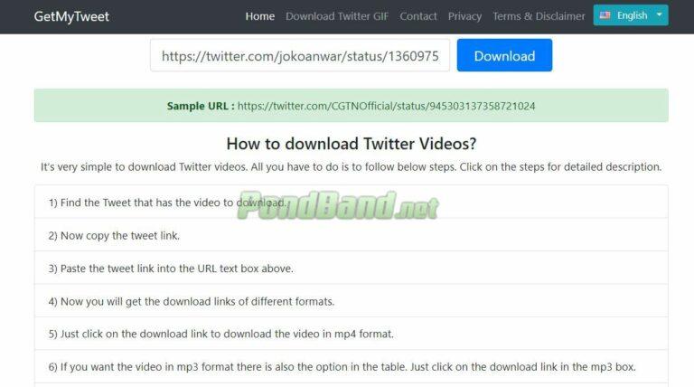 Pilih download atau unduh untuk memulai proses download.