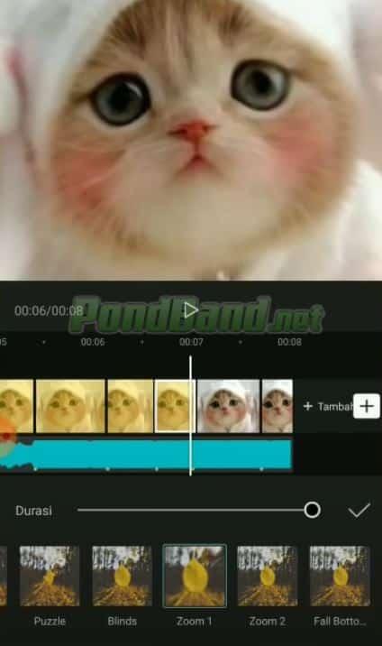 Selanjutnya silahkan tambahkan transisi video dengan cara memilih animation.