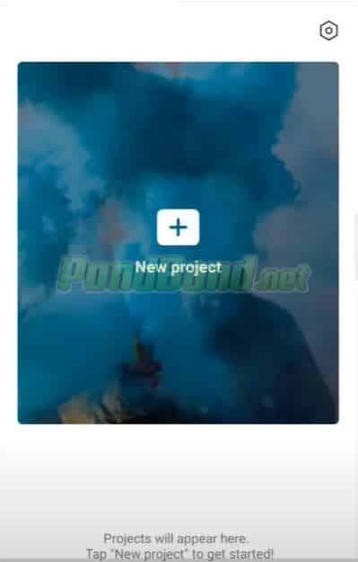 Setelah itu klik icon + pada bagian menu new project.
