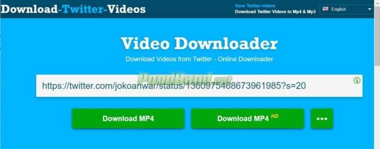 Setelah itu, pada bagian kolom URL terdapat beberapa pilihan kualitas video dengan format