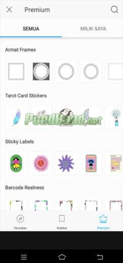 Stiker picsart pro