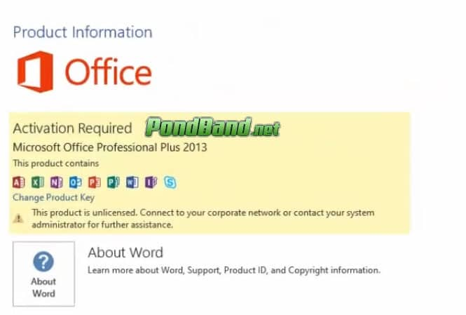 Belum Aktivasi Office 2013