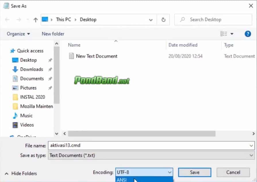 file name cmd dan encoding ansi