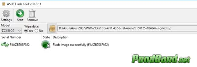 selesai Cara Flash Asus z007