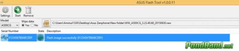 sudah selesai Cara Flash Asus Zenfone 5