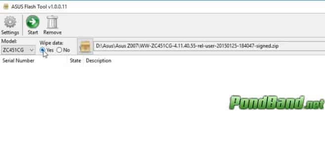 yes wipe data Cara Flash Asus z007