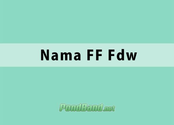 99 Nama Ff Fdw Asli Bersimbol Payung Terkeren Tahun 2021