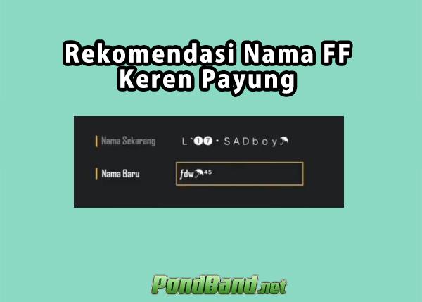 nama ff keren payung fdw