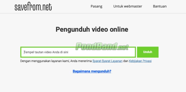 Buka tab baru untuk situs savefrom.net.