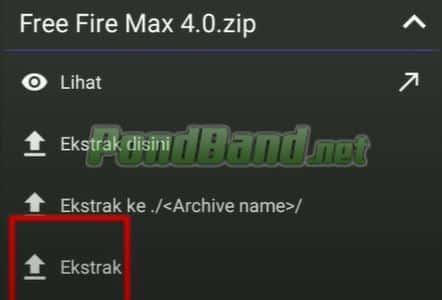 Ekstrak file dan install apk file.