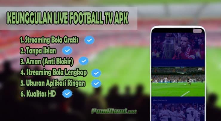 Keunggulan Live Football TV APK