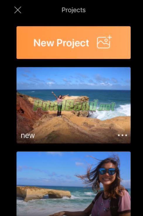 """Untuk memulai mengedit foto bergerak, Anda bisa memilih menu """"New Project""""."""