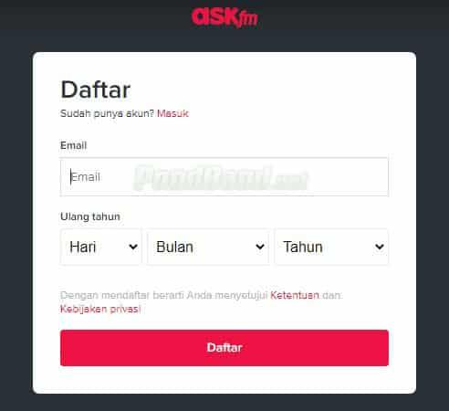 Cara Deactivate Ask FM