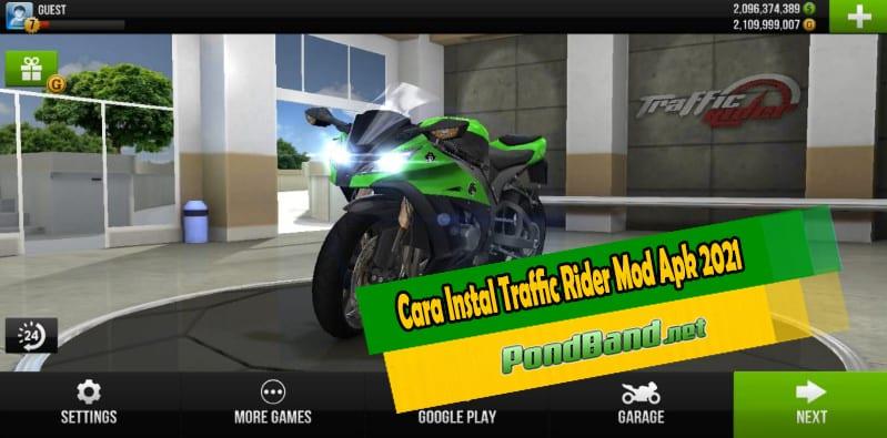 Cara Instal Traffic Rider Mod Apk 2021
