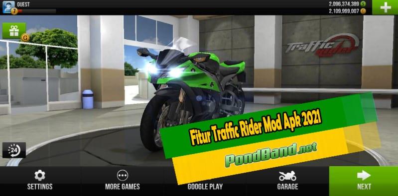 Fitur Traffic Rider Mod Apk 2021
