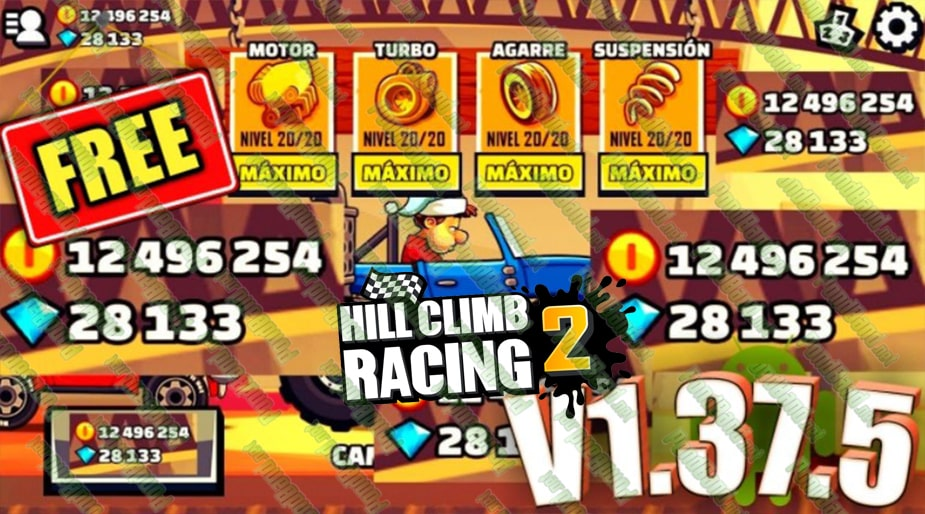 Unlimited Money Hill Climb Racing 2 Mod Apk